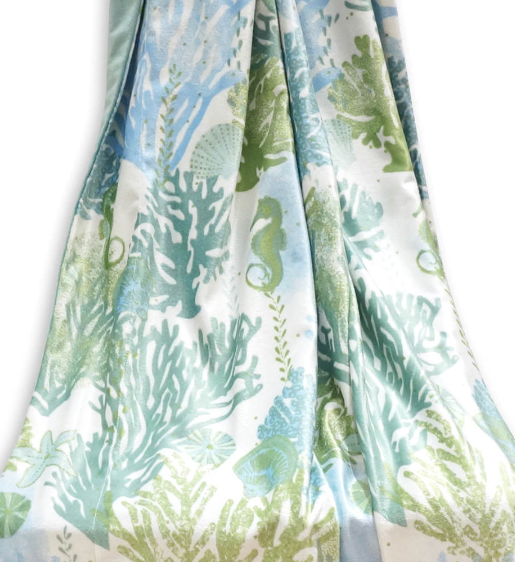 Under the Sea Coastal Throw Blanket