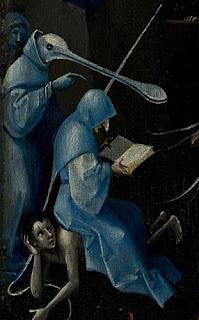 Jérôme Bosch : détail du Jardin des Délices, panneau de droite, musée du Prado, Madrid