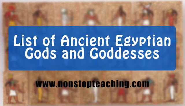 List of Ancient Egyptian God and Goddesses