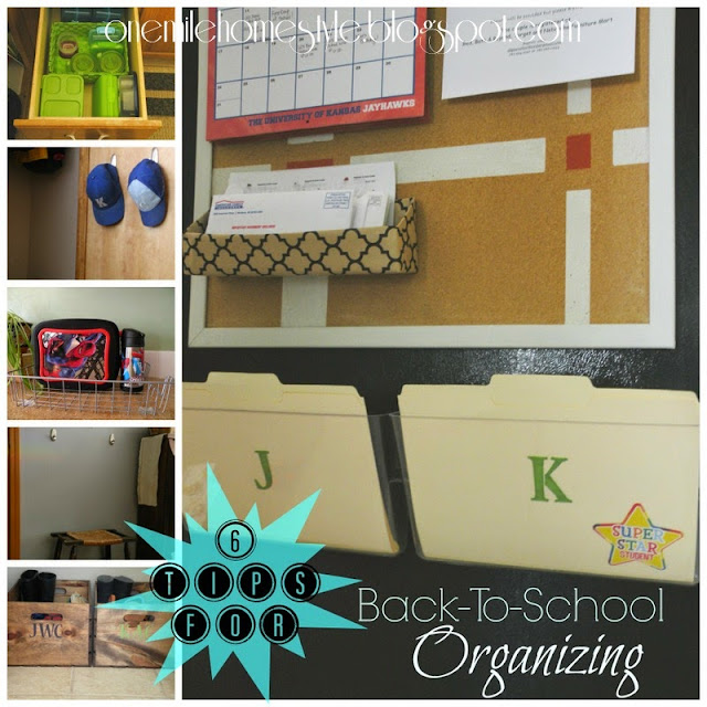6 tips for back to school organizing
