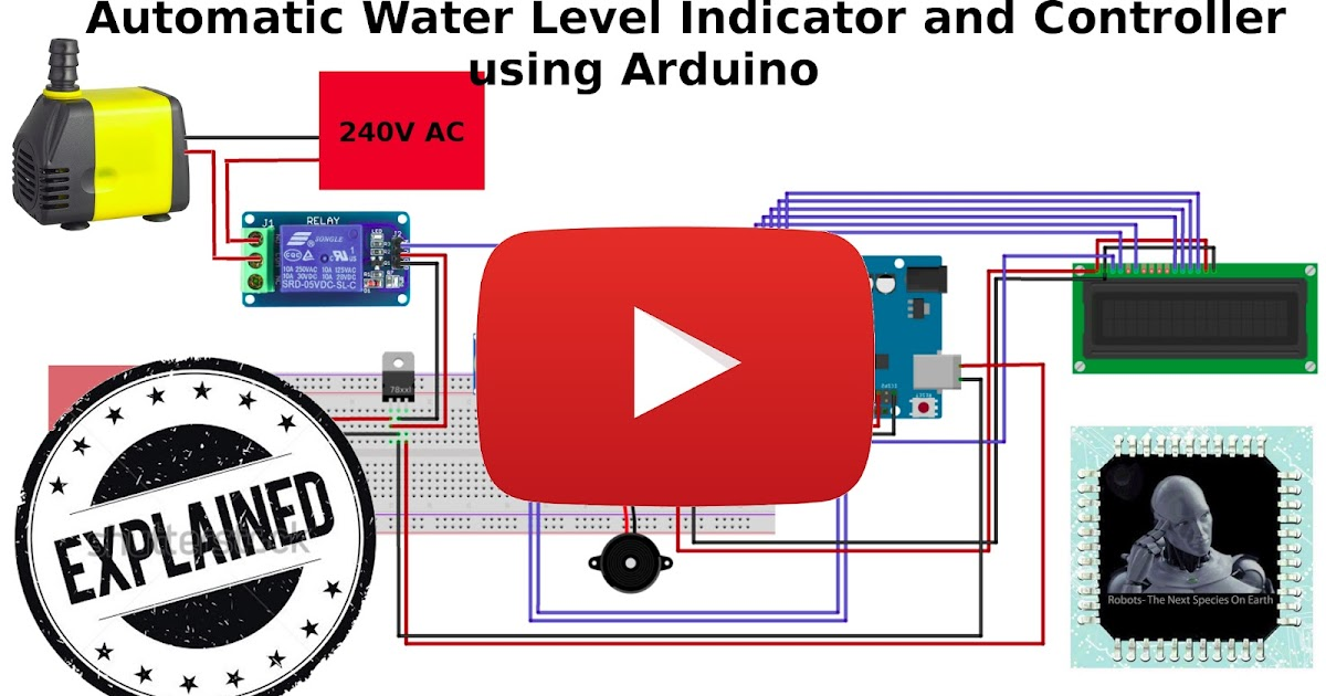 Automatic Water Level Indicator And Pump Controller Using