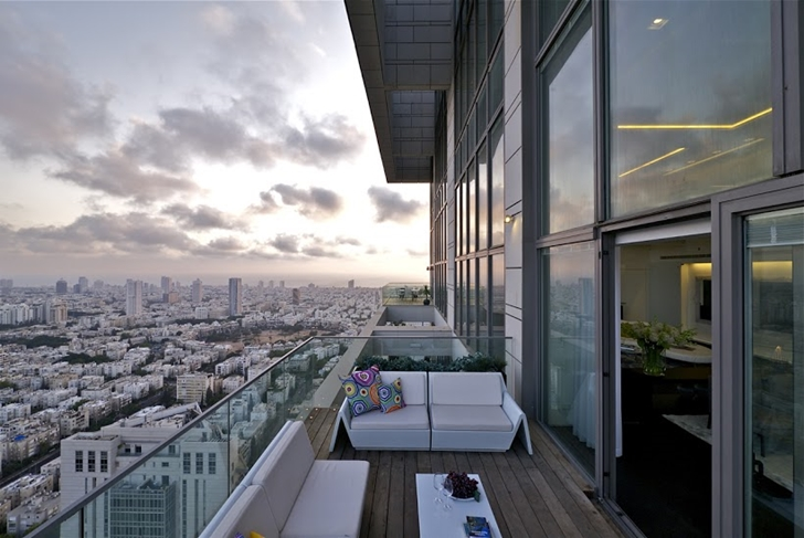 Penthouse terrace view of Tel Aviv