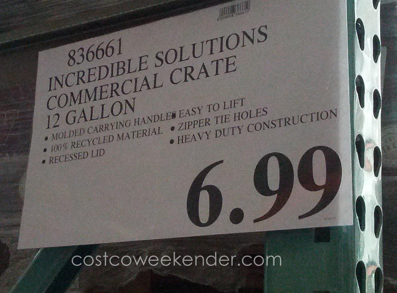 Incredible Solutions 12 Gallon Fliptop Crate Costco Weekender