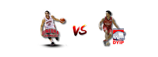 June 20: Columbian vs Ginebra, 7:00pm Smart Araneta Coliseum