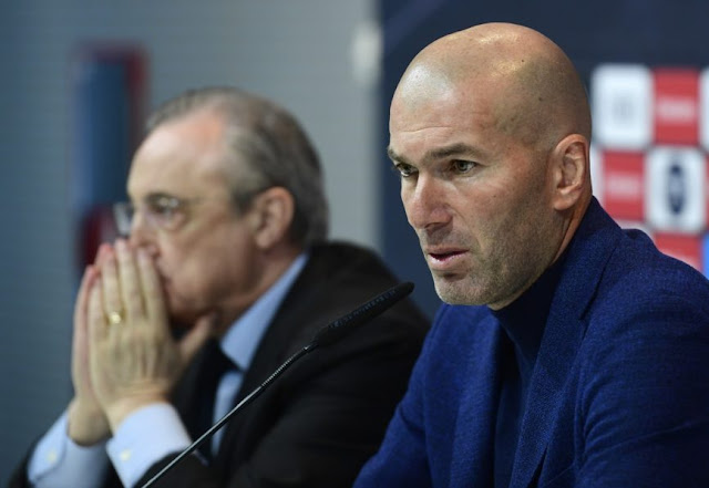 Sports Today: Real Madrid president, Perez Speaks on Zidane's resignation (Video)