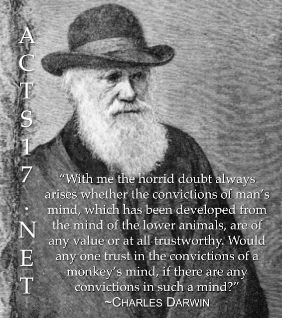 Darwin Quotes: Acts 17: Charles Darwin On The Argument From Reason