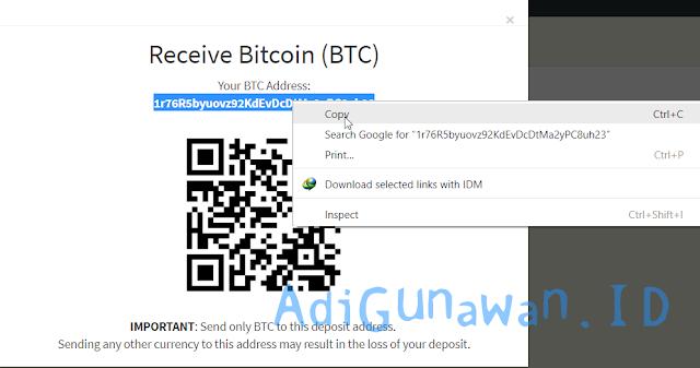 Cara Deposit ke WesternCoin