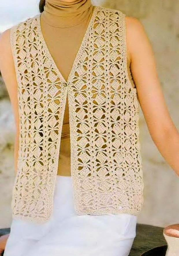 Free Crochet Patterns For Vests : Crochet Sweaters: Crochet Vest Pattern - Classic ...
