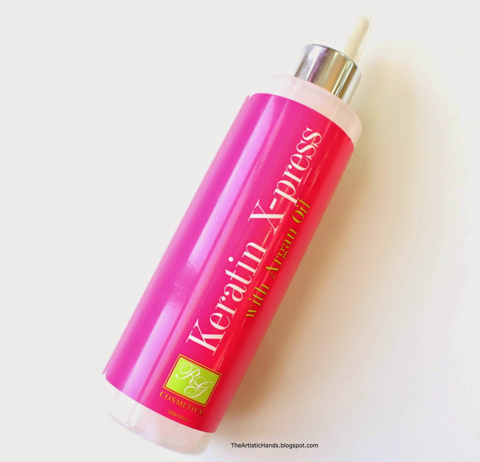 39b346e1c RG Cosmetics Keratin X-press With Argan Oil ريفيو بخاخ معالج للشعر  بالكيراتين وزيت الأرغان