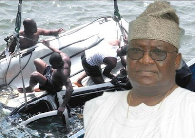 Retired Air Vice Marshal and Driver Killed As Vehicle Plunges Into Lagos Lagoon