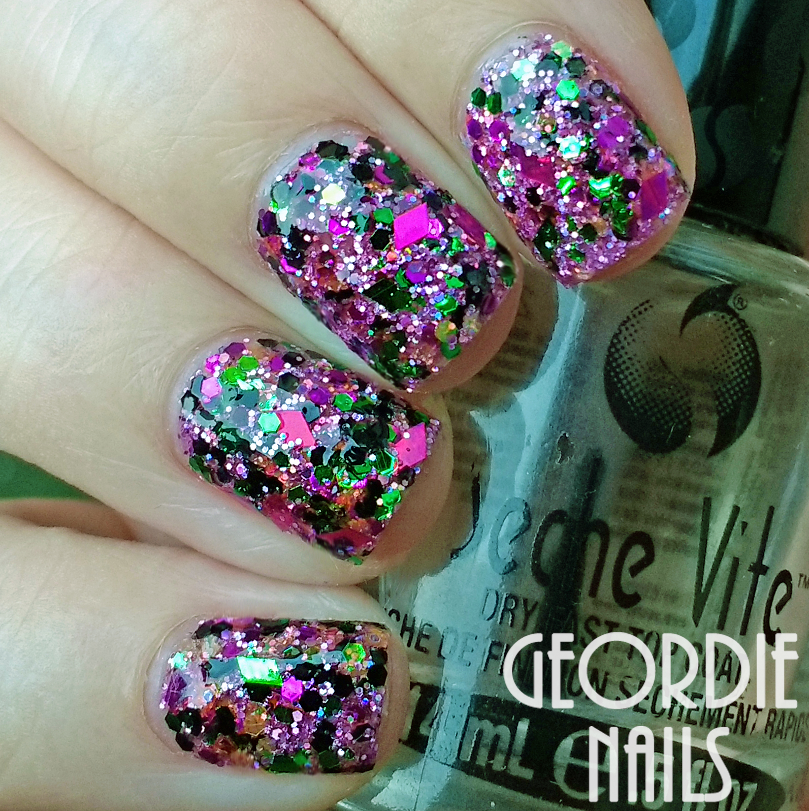 Geordie Nails: Charlies Nail Art ~ Hocus Pocus Glitter Mix