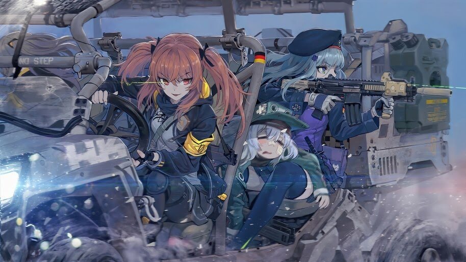 Anime, Girls Frontline, G11, HK416, UMP9, 4K, #6.1289