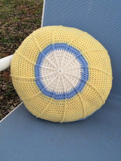 Pond Creek Pillow, Free Crochet Pattern by April Garwood of Banana Moon Studio