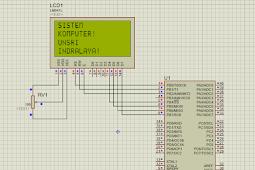 Simulasi Karakter LCD 16x4 di Proteus dengan Codevision