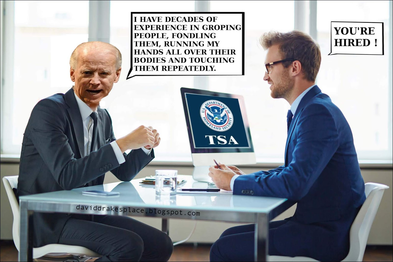 Biden hired by TSA