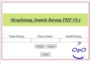 OpO ~ Menghitung Jumlah Pembelian Barang Menggunakan PHP Dan HTML