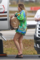 Miley Cyrus Sexy legs in Green Shirt Dress