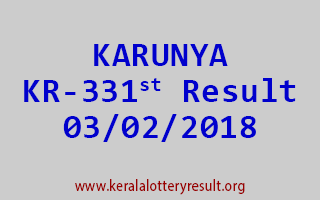 KARUNYA Lottery KR 331 Results 03-02-2018