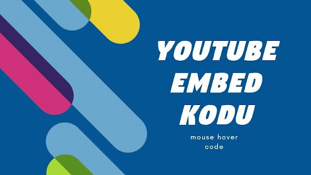 YouTube embed kodu