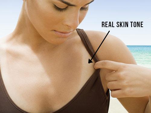 real skin tone, tanned skin, kulit belang