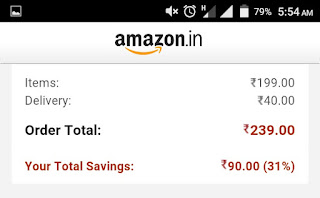 Amazon exyraa 40 delivery charges