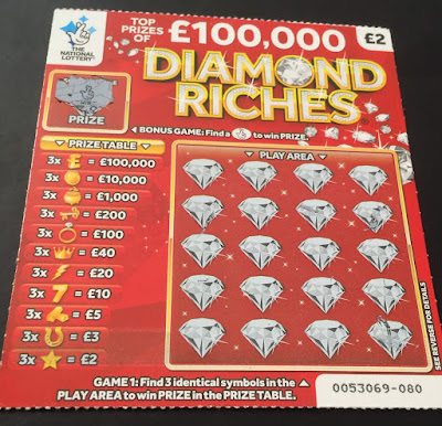 £2 Diamond Riches National Lottery Scratch Card