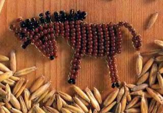 Простая лошадка из бисера для начинающих