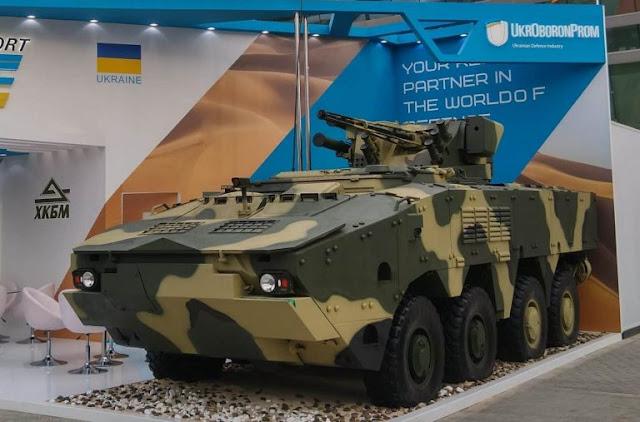 Ukraine giới thiệu mẫu xe bọc thép BTR-4MV1 mới với lớp giáp tăng Cường
