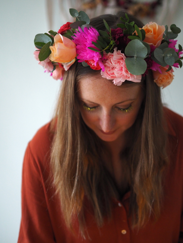 Autumn flower crowns