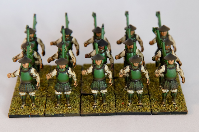 Ashigaru troops Front on