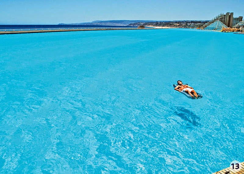 The water filtration system alone cost about $3.5 million. - The World's Largest Swimming Pool Is Seriously Glorious. Awesome Is The Only Word.