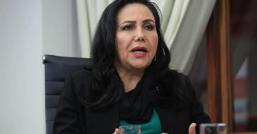Plan de trabajo del gobierno priorizará salud, educación, vivienda y obras paralizadas, sostuvo la ministra de la Mujer y Poblaciones Vulnerables, Gloria Montenegro