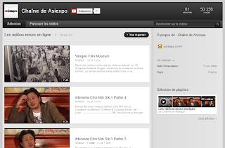 Chaîne youtube d'Asiexpo