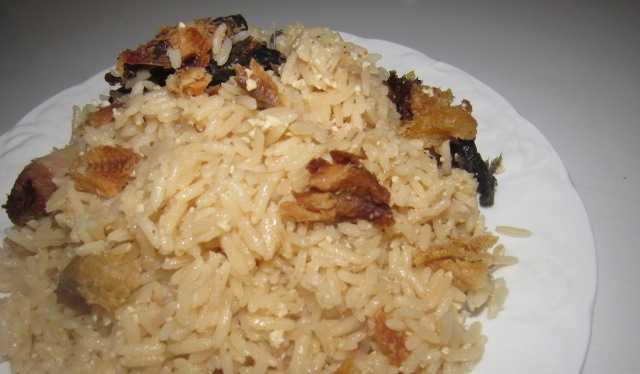 Fried coconutty coconut rice