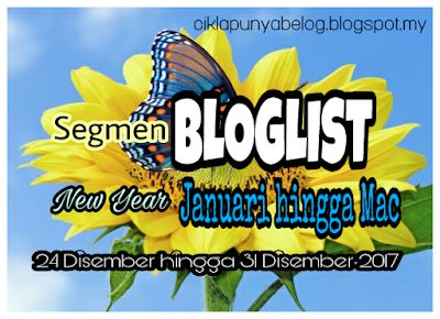 Segmen BLOGLIST New Year Januari hingga Mac