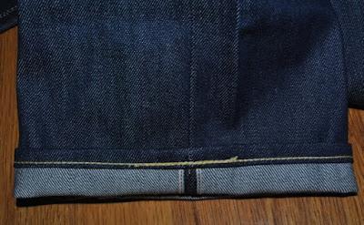 LVC66501 裾裏イエローのチェーンステッチ
