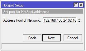 Mengatur Range IP Hotspot mikrotik