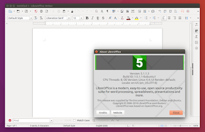Ubuntu 16.04 Xenial Xerus screenshots LibreOffice