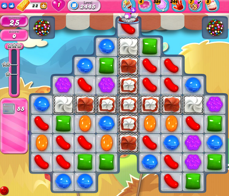 Candy Crush Saga level 2445