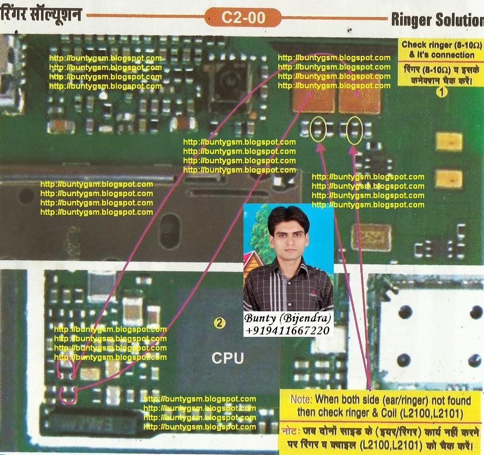 nokia c2-00 ringer solution by buntygsm mobile repairing institute - imet  mobile repairing institute imet mobile repairing course