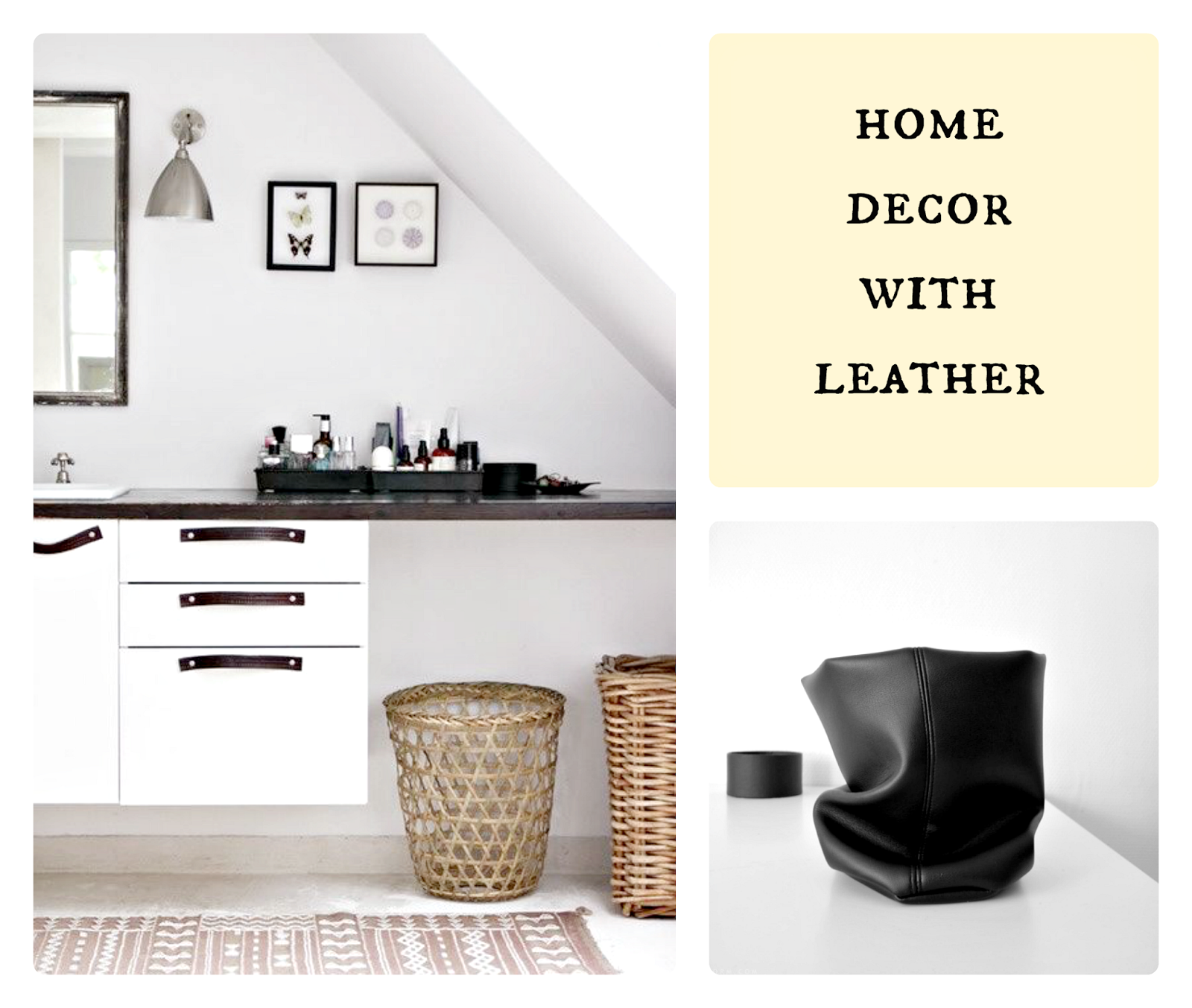 decor with leather