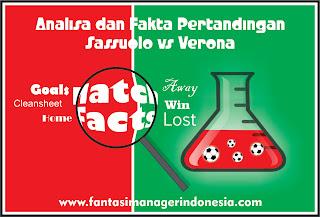 analisa dan fakta pertandingan sassuolo vs verona