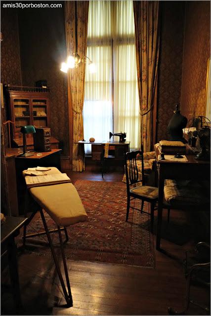 Sala de Costura de la Mansión The Elms en Newport