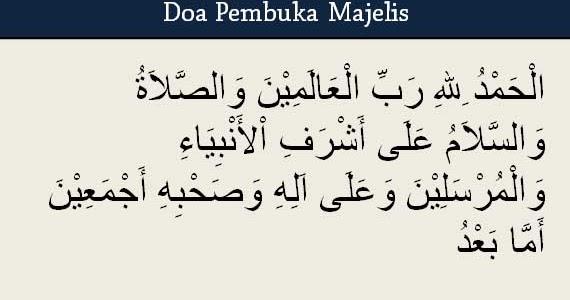 4 Doa Pembuka Majelis Yang Sesuai Sunnah Artinya Doa