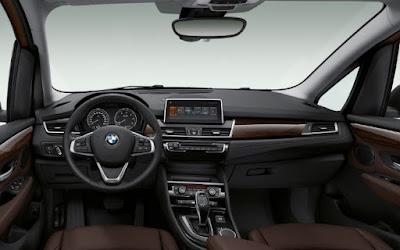 Tableau de bord de la BMW série 2 Gran tourer