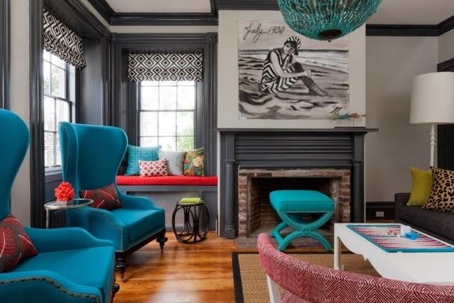 Salas de colores salas con estilo for Colores para muebles de sala