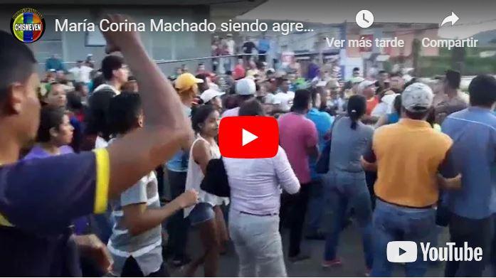 María Corina Machado agredida brutalmente en Upata por órdenes de Maduro