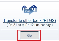 Select RTGS Transaction Type