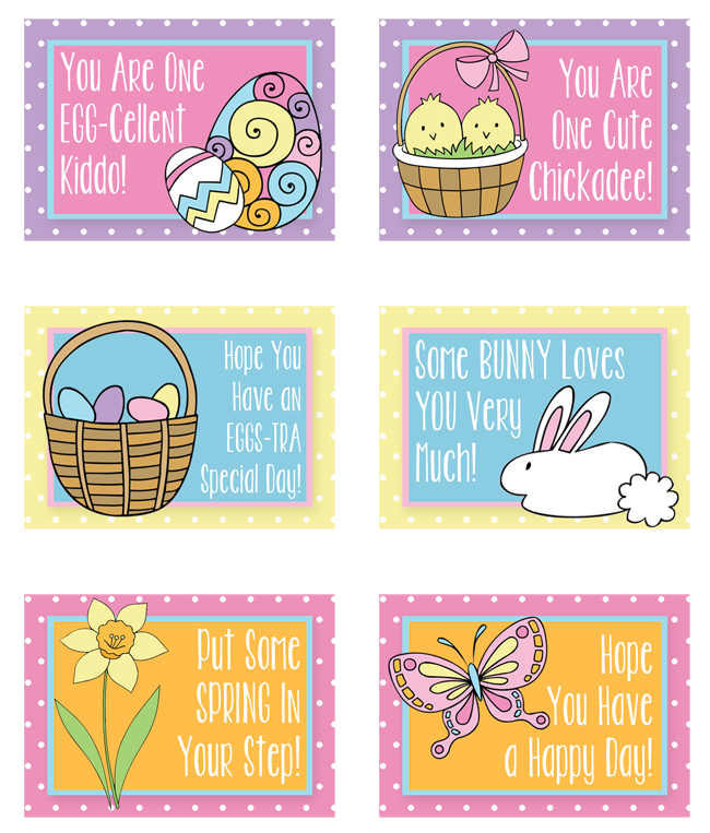 Free Printable Easter & Spring Lunch Notes | Instant Download