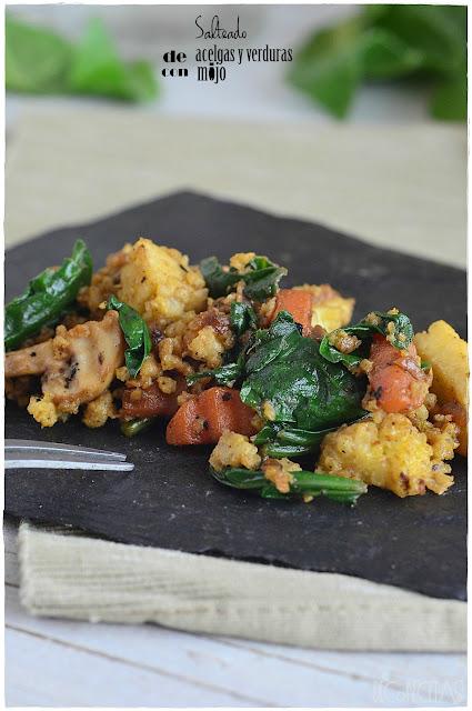 Salteado de acelgas y verduras con mijo
